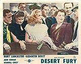 Desert Fury Original Lobby Card John Hodiak Lizabeth Scott craps table casino
