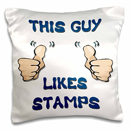 Blonde Designs This Guy Likes With Thumbs - This Guy Likes Stamps - 16x16 inch Pillow Case (pc_150476_1)