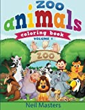 Zoo Animals Coloring Book (Avon Coloring Books) (Zoo Animals Children Books) (Volume 1)