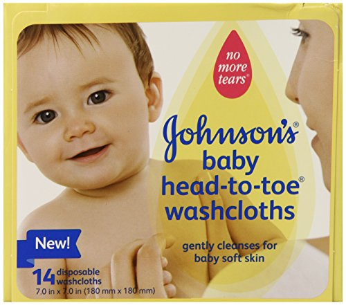 Johnson's Baby Head-to-Toe Disposable Washcloths, 14 Count