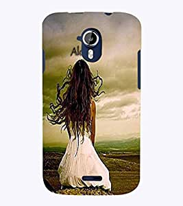 PrintVisa Quotes & Messages Alone 3D Hard Polycarbonate Designer Back Case Cover for Micromax Magnus A117