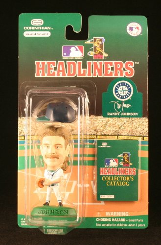 RANDY JOHNSON / SEATTLE MARINERS * 3 INCH * 1996 MLB Headliners Baseball Collector Figure