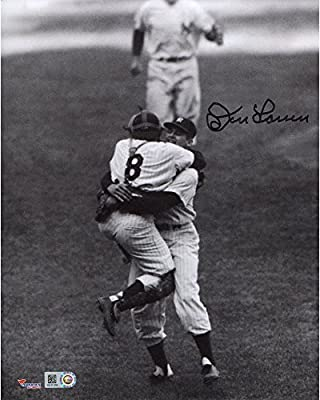 "Don Larsen New York Yankees Autographed 8"" x 10"" Hugging Berra Photograph - Fanatics Authentic Certified"