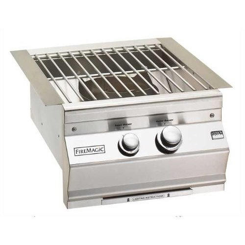 Cast Brass Burner w Stainless Steel Grid (Grill-Propane