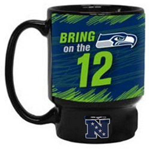 Seattle Seahawks Nfl Football Bring On The 12 Black Coffee Mug