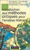 echange, troc Bergez Daniel - Introduction aux méthodes critiques pour l'analyse littéraire