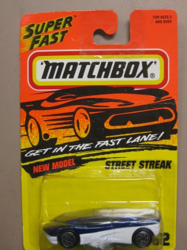 "Matchbox Super Fast Series Purple & White Street Streak ""New Model"" #62 of 75 Vehicles - 1"