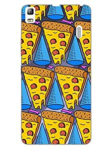 Lenovo K3 Note Back Cover - Pizza and Cheese in my veins - Designer Printed Hard Shell Case