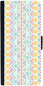 Snoogg Light Blue Aztec Graphic Snap On Hard Back Leather + Pc Flip Cover Sam...