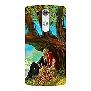 Stylish Couple Under Tree Multicolor Back Case Cover for LG G3 Mini