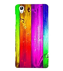 PrintVisa Colorful Wood Pattern 3D Hard Polycarbonate Designer Back Case Cover for Vivo Y51L