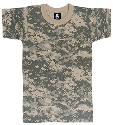 Digital Camouflage Military Combat Uniform T-Shirt