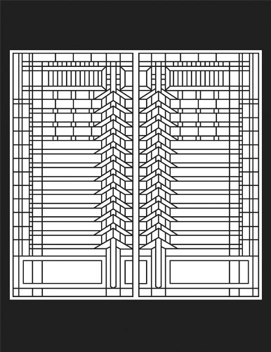 Frank lloyd wright glass art the image for Frank lloyd wright coloring pages