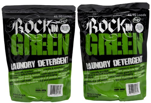 Rockin' Green Hard Rock Laundry Detergent - Motley Clean - 45 oz - 2 pk - 1