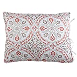Stylemaster Home Products Twill and Birch Lucca Quilted Reversible Sham, Standard, Terracotta