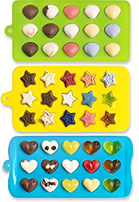 Basic House Candy Molds Cocktail Ice Cube Trays Hearts Stars Shells Silicone Chocolate Jelly Molds Fun Kids Toy Set