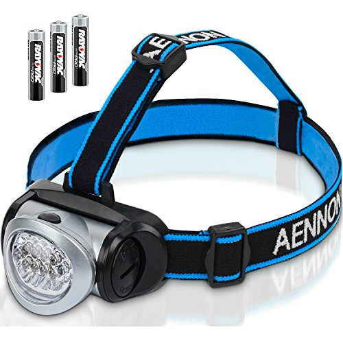 Headlamp Flashlight with Red LED Light - Super Bright, Lightweight
