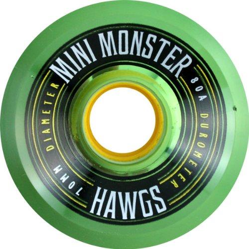 Hawgs Wheels Mini Monster Clear Green Skateboard Wheels - 70mm 80a (Set of 4) (Hawgs Mini Monster compare prices)
