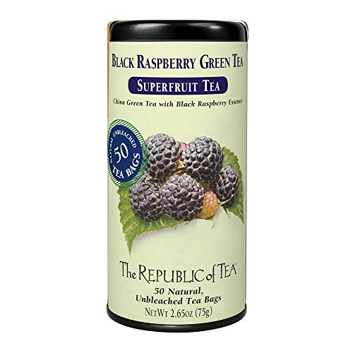 The Republic Of Tea Black Raspberry Green Tea, 50 Tea Bags