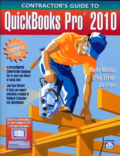 Contractor's Guide to QuickBooks Pro 2010 - Craftsman Book Co - 1572182369 - ISBN:1572182369