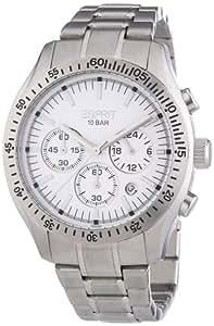 Esprit Herren-Armbanduhr XL Gran Orbus Silver Chronograph Quarz Edelstahl ES102861002
