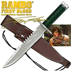 "RAMBO 1 - First Blood Part I Messer - Master Cutlery - lim. Signature Edition (Sylvester Stallone) in ""golden Box"" *Original+NEU+OVP*"