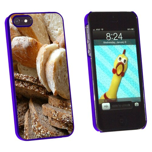 Bread - Loaf Rye Italian French - Snap On Hard Protective Case for Apple iPhone 5 5S - Blue