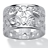 Toscana - Sterling Silver Filigree Band - J