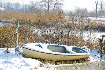Outdoor - Leinwandbild Winterruhe 70 x 50 cm