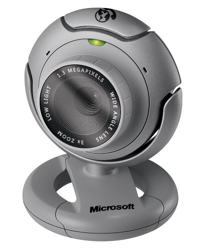 Microsoft LifeCam VX-6000 1.3 Megapixel USB 2.0 Web Camera w/ Wide Angle Lens & 2560 x 2048 5 Megapixel Still Image Capture