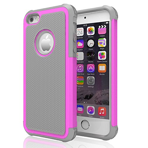 iPhone 5s Case ,[Corner Protection] Protective Case Detachable Defender Thin Protective Anti-dirt Scratch Resistant Hard Soft Heavy Duty Rubber Bumper Cover for iPhone 5 5s(Gray/Rose) (Iphone 5s Body Space Gray compare prices)