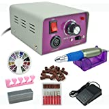 Nova Microdermabrasion® Pro Electric Nail File Drill Machine Predicure Complete Kit Acrylics Nail Manicure Drill with Free Gifts (Model #1)