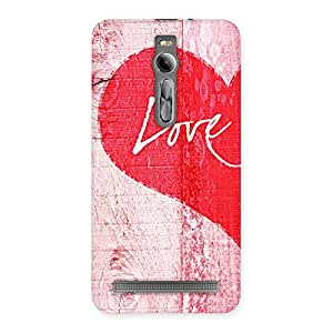 Enticing Love Pink Multicolor Back Case Cover for Asus Zenfone 2
