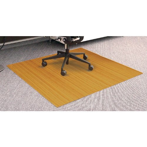 Bamboo Roll-Up Chair Mat - Natural Honey Oak (48Lx42W