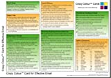 img - for Crazy Colour Quick Reference Card for Effective Email book / textbook / text book
