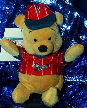 "Disney's Winnie the Pooh Baseball 8"" Plush Beanie - 1"