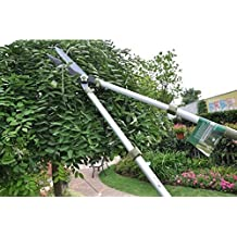 Worth Garden Telescopic Hedge Shear, Extendable Long Reach Clipper, Long Arm Pruning Shears W/ Antirust Teflon... - B016PREZS4