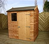 Overlap Reverse Apex Shed with Single Door and Pad Bolt Size: 203 cm H x 180 cm W x 134 cm D