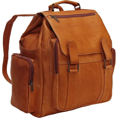 B002Y5JHHG Cape Cod Leather Oversized Backpack – Vaquetta Leather (Tan)