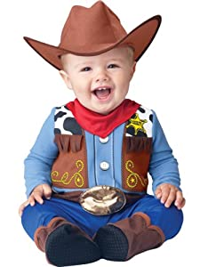 Unisex-baby Western Wrangler Cowboy Costume with Bracelet for Mom
