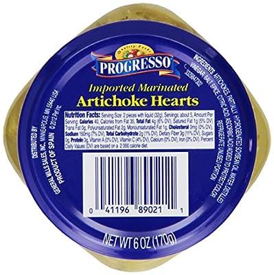 Progresso Marinated Artichoke Hearts, 6-Ounce (Pack of 6)