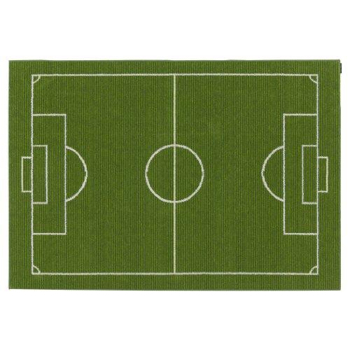 ウォッシャブルサッカーラグ フットボールフィールド 100X140㎝ グリーン 13131214