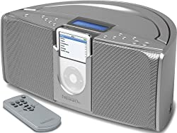 Emerson iP550 iTone Portable Stereo System for iPods (Silver)