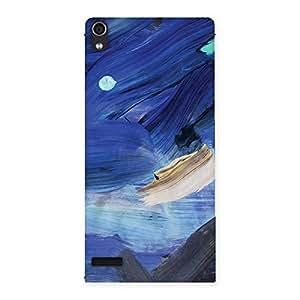 Gorgeous Blue Paint Work Print Back Case Cover for Ascend P6