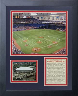 "Legends Never Die ""Minnesota Twins Metrodome"" Framed Photo Collage, 11 x 14-Inch"