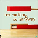 DeStudio Feel The Fear Wall Decal, Size LARGE, Color BLACK
