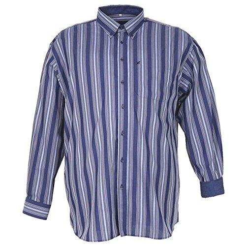 Camicia taglie forti uomo manica lunga Maxfort OSTIENSE - Azzurro, 7XL