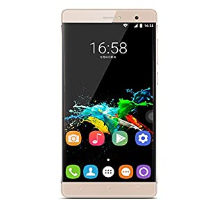 [2016 New Release] PADGENE® R8 Unlocked 3G Smartphone, 6 inch IPS(1280*720) Android 5.1 Mobile Phone---MTK6580 Quad Core 1.3GHz,1GB ROM 8GB RAM, Dual Sim(Dual Standby), Dual Camera(2.0M/5.0M),WIFI GPS G-Sensor SIM-Free 2G/3G Smartphone Phablet (Gold)