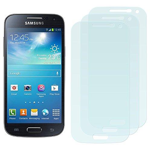 3 x Filmex Displayschutzfolie Samsung Galaxy S4 Mini (GT-i9190, i9192 Dual Sim, i9195 LTE) - Klar Unsichtbar Aufkleber Schutzfolie, Premium-Qualität Japan PET-Folien, Lebenslange Garantie