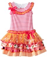 Bonnie Jean Little Girls' Stripe To Multi Tiered Skirt